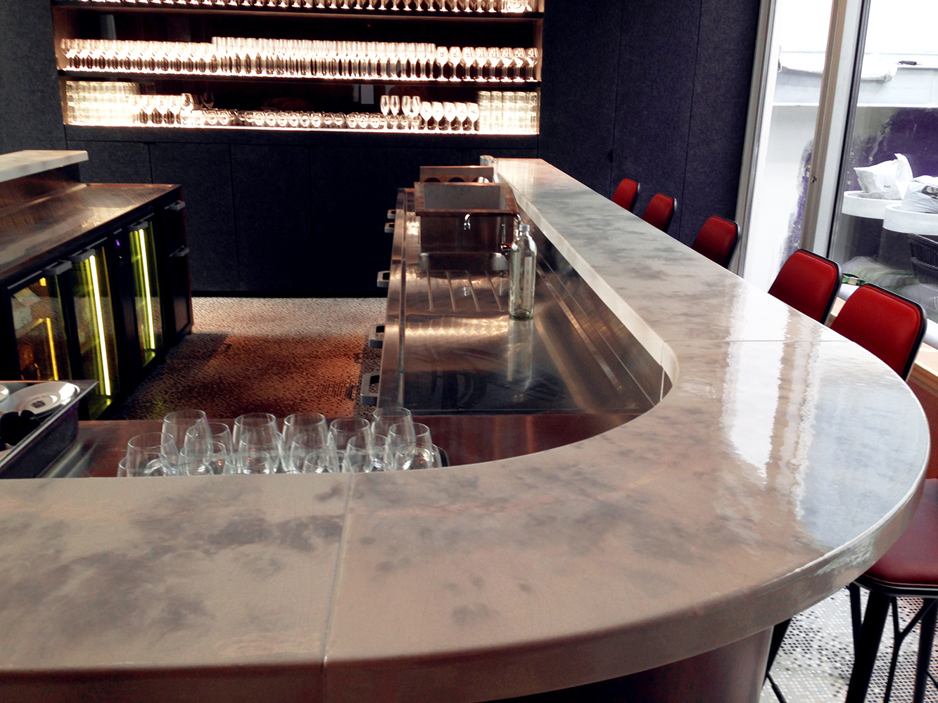 Buffets and reception counters for bars & restaurants - Pyrolave