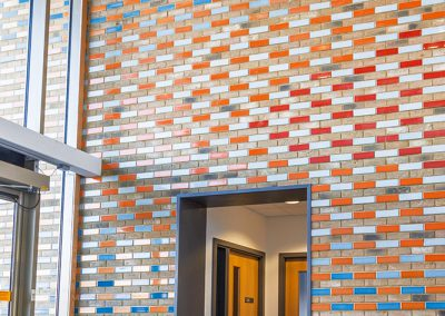 Academy College feature wall – 10 Custom colours- Suffolk (UK)