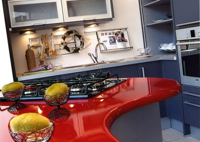 Kitchen Showroom - Rouge Cardinal - France