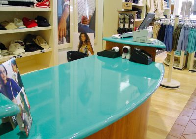 Shop desk - Custom colour - Crans Montana (Switzerland)